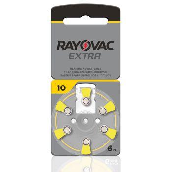 Rayovac 010 hoortoestel batterij kleurcode geel zinc air