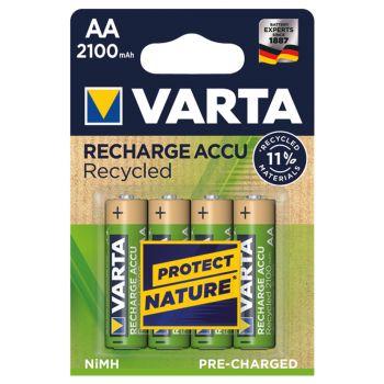 Varta 56816 oplaadbaar AA 1,2 volt 2100 mAh Recharge Accu Recycled R2U ready to use