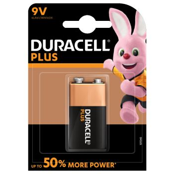 Duracell MN1604 6LR61 9 volt alkaline batterij